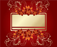 Stylish flowers on red background Stock Photography