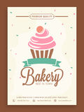 Stylish flyer or menu card for bakery shop. Royalty Free Stock Photo