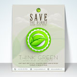 Stylish flyer for save the planet concept. Stock Photography