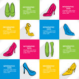 Stylish footwear sale banner design Stock Photography