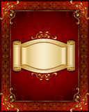 Stylish frame and banner Royalty Free Stock Photo