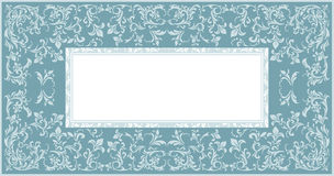 Stylish Frame with elegant floral ornament. And tender color design for greeting card, invitation, poster Stock Photos