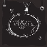 Stylish frame for Happy Mothers Day celebration. Royalty Free Stock Photography