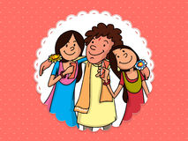 Stylish frame for Raksha Bandhan celebration. Royalty Free Stock Image