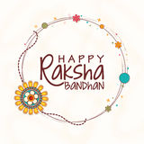 Stylish frame for Raksha Bandhan celebration. Stock Photo