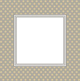 Stylish frame with retro background. Stylish frame with floral ornament Stock Image