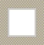 Stylish frame with retro background Stock Image