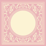 Stylish frame. Vintage circle frame with elegant ornament Royalty Free Stock Photos