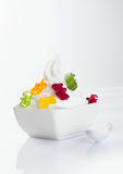 Stylish frozen yoghurt Stock Images