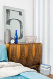 Stylish furniture in contemporary interior Royalty Free Stock Image