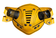 Stylish futuristic leather mask Stock Photos