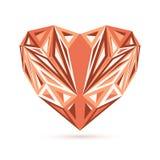 Stylish geometric heart  on white Stock Image
