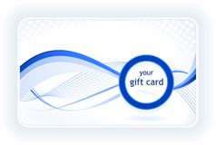 Stylish gift / business card Stock Images