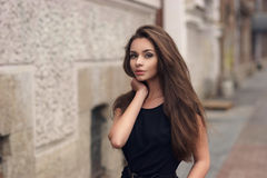 Stylish girl in city Stock Image