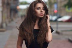 Stylish girl in city Royalty Free Stock Photo