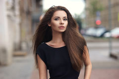Stylish girl in city Royalty Free Stock Image
