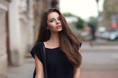 Stylish girl in city Royalty Free Stock Photos