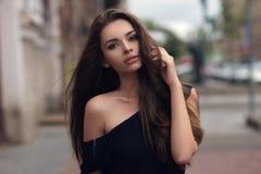 Stylish girl in city Stock Photo