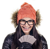 Stylish girl with credit card Stock Photo