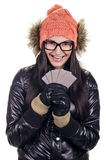 Stylish girl with credit card Royalty Free Stock Photos