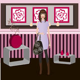 Stylish girl at home Royalty Free Stock Images