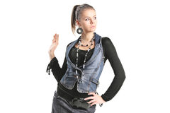Stylish girl posing Royalty Free Stock Photo