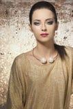 Stylish girl with shiny dress Royalty Free Stock Photography