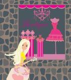 Stylish girl shopping Royalty Free Stock Photos