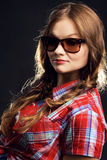 Stylish girl in sunglasses Royalty Free Stock Photos