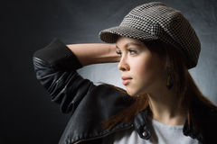 Stylish girl wearing cap Royalty Free Stock Photography