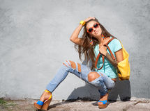 Stylish girl Stock Photography