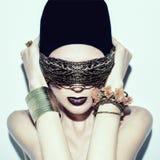 Stylish girljewelry and fashion Royalty Free Stock Photos