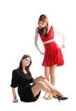 Stylish girls Stock Photography
