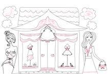 Stylish girls shopping Royalty Free Stock Image