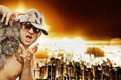 Stylish glamorous rapper Stock Images