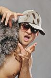 Stylish glamorous rapper Royalty Free Stock Photo