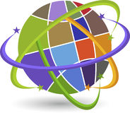 Stylish globe logo Royalty Free Stock Image