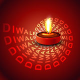 Stylish glowing colorful diwali beautiful diya Stock Image