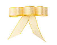 Stylish gold bow glittering Royalty Free Stock Images