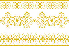 Stylish gold ornaments vector. Stock Images