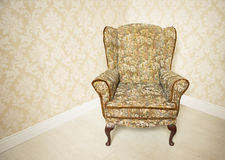 Stylish gold vintage armchair Royalty Free Stock Photo