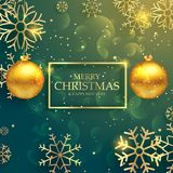 Stylish golden christmas balls on luxury style background. Vector Royalty Free Stock Images