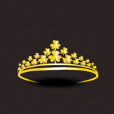 Stylish golden crown design. Royalty Free Stock Photography