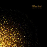 Stylish golden glitter round confetti on black vector background Royalty Free Stock Photo