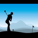 Stylish golf illustration Royalty Free Stock Photos