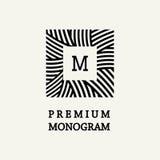 Stylish and graceful floral monogram design Stock Image