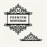 Stylish and graceful floral monogram design Stock Photos
