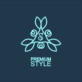 Stylish and graceful floral monogram design Royalty Free Stock Photo