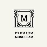 Stylish  graceful monogram  in Art Nouveau style Stock Photography