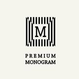 Stylish  graceful monogram  in Art Nouveau style Royalty Free Stock Photos